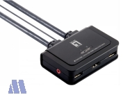 LevelOne KVM-0290 2-Port USB HDMI KVM Switch
