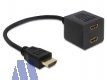 Delock HDMI High-Speed Splitter mit Ethernet-Verstärker