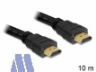 Delock High Speed 4K HDMI mit Ethernet Kabel 10m St/St