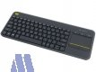 Logitech K400 Plus wireless Touch Tastatur USB schwarz
