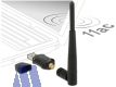 Delock Dualband 2.4/5 GHz WLAN ac USB Adapter, externe Antenne
