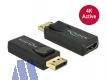 Delock Adapter Display Port 1.2 (St) -> HDMI (Bu) 4K aktiv