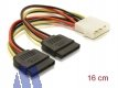 Delock Power 2x SATA HDD -> 4pin Molex Stecker