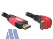 Delock High Speed 4K HDMI mit Ethernet Kabel 1m St/St, gewinkelt