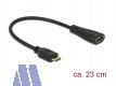 Delock mini HDMI Stecker  -> HDMI Buchse High-Speed Kabel mit Ethernet 23cm