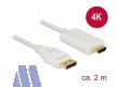 Delock Display Port -> HDMI Kabel St/St 2m, weiß