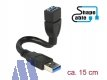 Delock Kabel USB3.0 Type-A St -> USB3.0 Typ-A Bu ShapeCable, 0.15 m
